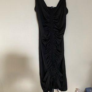 Black rouched mini dress